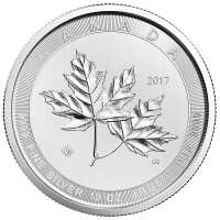 10 oz 2017 Royal Canadian Mint Magnificent Maple Leaves Sølvmynt