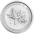 10 oz 2017 Royal Canadian Mint Magnificent Maple Leaves Silver Coin