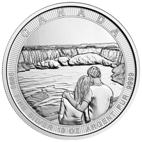10 oz 2017 Royal Canadian Mint Canada the Great Series | Niagara Falls Silver Coin