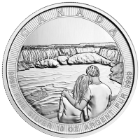 10 oz 2017 Royal Canadian Mint Canada the Great Serie | Niagara Watervallen Zilveren Munt