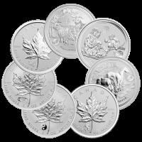1 oz Silbermünze unserer Wahl - Regierungsgeprägt mit Sonderprägezeichen - nicht im Umlauf gewesen