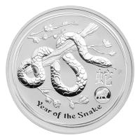 1 oz 2013 Lunar Year of the Snake Lion Privy Silver Coin