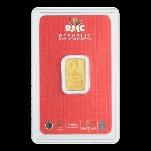 Lingot d'or Republic Metals Corporation de 2,5 g