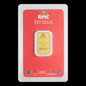 Lingot d'or Republic Metals Corporation de 5 g