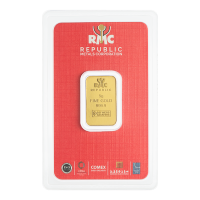 5 g Republic Metals Corporation Gold Bar