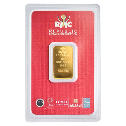 10 g Republic Metals Corporation Gold Bar