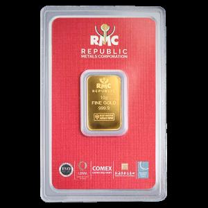 10 g Republic Metals Corporation Gold Bar