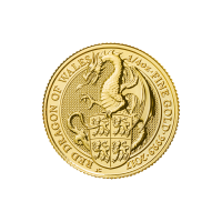 1/4 oz 2017 Royal Mint Queen's Beasts | Red Dragon of Wales Gold Coin