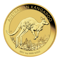 1 oz Goldmünze - australisches Känguru - 2017