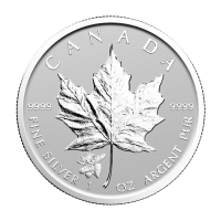 1 oz 2017 Canadian Maple Leaf Eland Privy Achterkant Proof Zilveren Munt