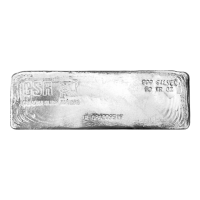 50 oz Canadian Silver Refiners Poured Silver Bar