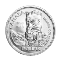 1958 Canadian Silver Dollar $1 Face Value Circulation 80% Pure Silver Coin