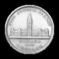 Dólar de Plata Canadiense 1939 Valor Nominal de Circulación $1 Moneda de Plata Pura 80%
