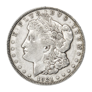 1921 Morgan Silver Dollar VG+ Silver Coin