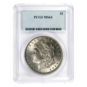 Dollar d'argent Morgan MS-64 PCGS 1878-1904