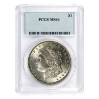 1878 - 1904 Morgan Dollar Silbermünze PCGS MS-64