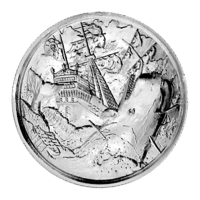 2 oz Privateer Collection | The White Whale Ultra High Relief Silver Round