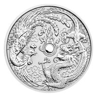 1 oz 2017 Perth Mint Dragon and Phoenix Silver Coin