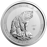 10 oz 2017 Canadian Grizzly Bear Silver Coin
