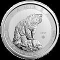 Pièce d'argent Ours grizzli canadien 2017 de 10 onces