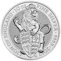 10 oz 2017 Royal Mint Queen's Beasts | Lion of England Silver Coin