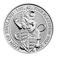 1 oz 2017 Royal Mint Queen's Beasts | Lion of England Platinum Coin
