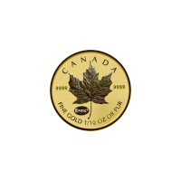 1/10 oz 2015 Canadian Maple Leaf E=mc2 Privy Reverse Proof Gold Coin