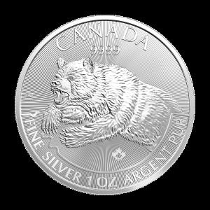 1 oz 2019 Predator Series   Grizzly Silver Coin