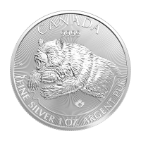 1 oz 2019 Predator Series | Grizzly Silver Coin
