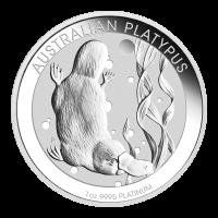 Moneda de Platino Ornitorrinco Australiano Año Aleatorio de 1 oz