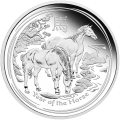 1 kg | kilo 2014 Lunar Year of the Horse Silver Proof Coin