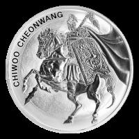 Ronde d'argent Chiwoo Cheonwang sud-coréenne 2017 de 1 once