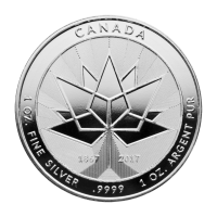 1 oz 2017 Canada 150-årsjubileum Sølv Round