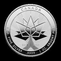 1 oz Silbermedaille Kanada 150. Jubiläum 2017