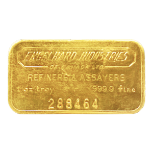 1 oz Engelhard Industries of Canada Vintage Gouden Baar