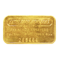 1 oz Engelhard Industries of Canada Vintage Gold Bar