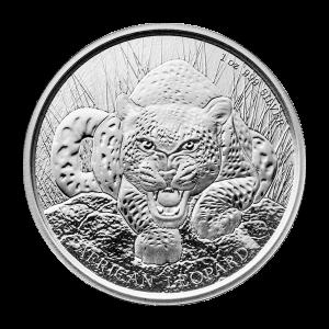1 oz Silbermünze Republik Ghana afrikanischer Leopard 2017