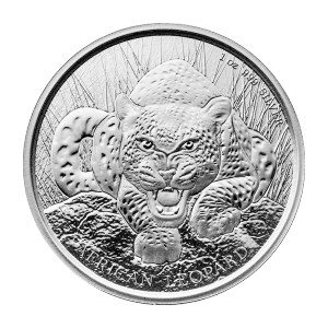 Moneda de Plata Leopardo Africano República de Ghana 2017 de 1 oz