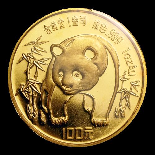 1 oz 1986 Chinese Panda Gold Coin