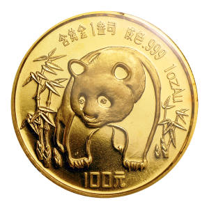 1 oz 1986 Chinese Panda Gold Coin