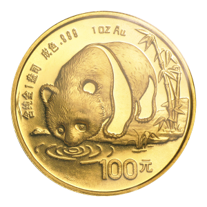 1 oz 1987 Chinese Panda Gold Coin