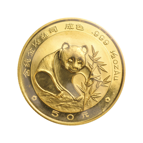 1/2 oz 1988 Chinese Panda Gold Coin