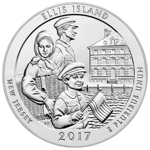 5 oz 2017 America the Beautiful | Ellis Island National Monument Silver Coin