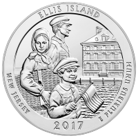 5 oz 2017 America the Beautiful | Ellis Island Nationaal Monument Zilveren Munt