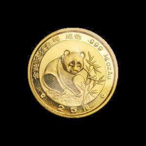 1/4 oz Goldmünze chinesischer Panda 1988