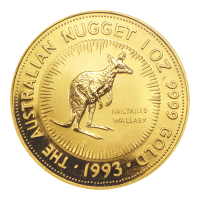 1 oz 1993 Australian Nugget Gold Coin