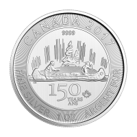 1oz 2017 Canadian 150th Special Edition Voyageur Silver Coin