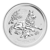 1 oz 2018 Perth Mint Lunar Year of the Dog Silver Coin