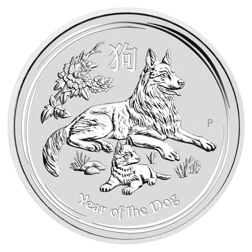 2 oz 2018 Perth Mint Lunar Year of the Dog Silver Coin