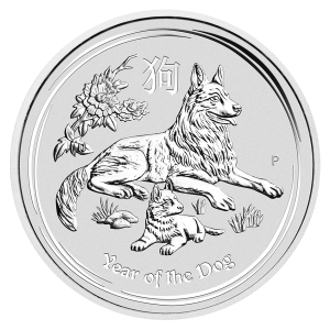 2oz 2018 Perth Mint Lunar Year of the Dog Silver Coin